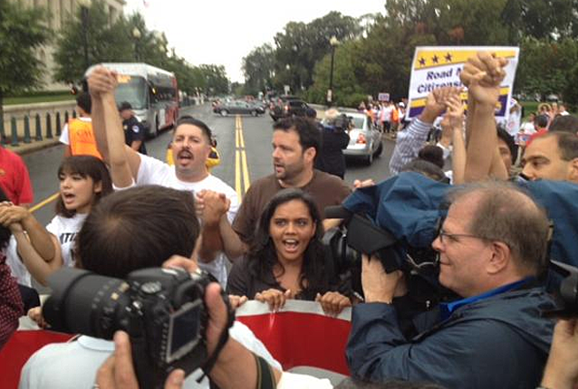 Sarita Gupta arrested for protesting for immigration reform