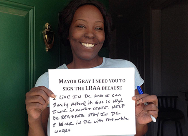 Thousands of DC residents have signed a petition urging Mayor Gray to pass the LRAA