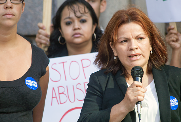 Reyna Sorto is one of the many Tito's employees fired after sticking her neck out to improve her job. The NLRB ordered Tito to reinstate Reyna, and she is entitled to backpay for being illegally fired.